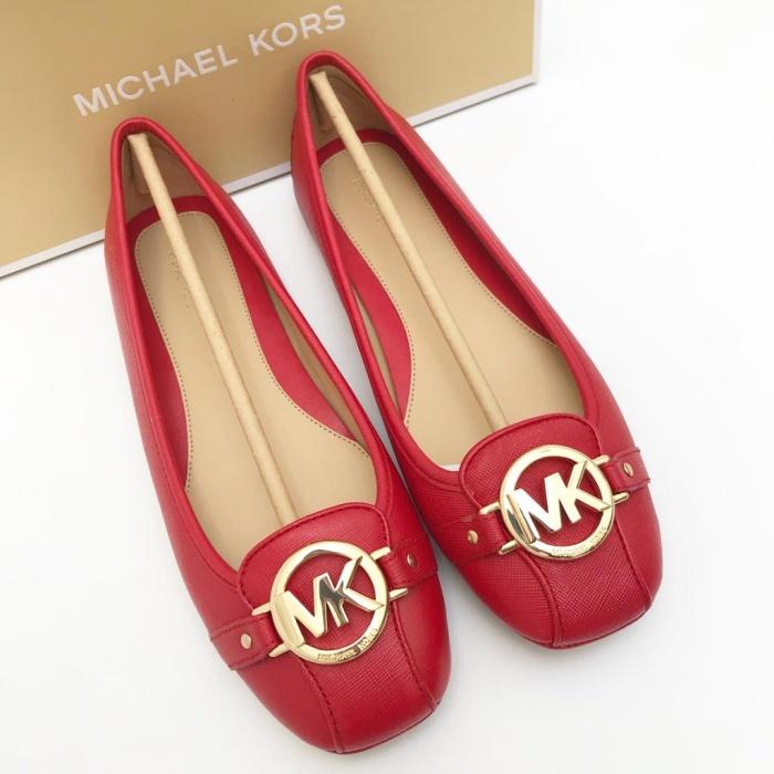 149b14f3b07 Jual Michael Kors Fulton Bright Red Flat Shoes - DKI Jakarta ...