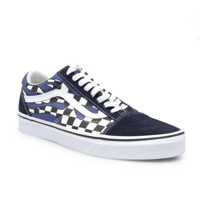 ea979eec30 Jual Vans Old Skool Checker Flame Navy White - RONKSOKDIVISION ...