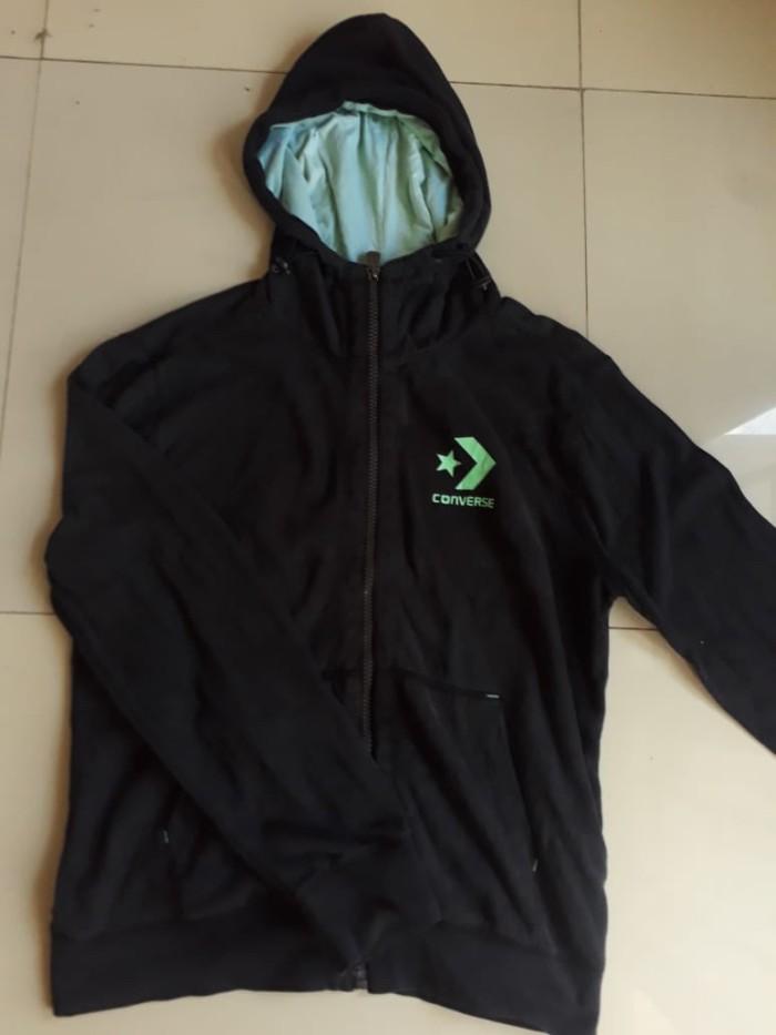 Jual Zip hoodie converse original - Second.stuffff  d9c1189736fa