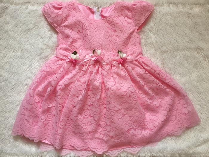 Jual Dress Gaun Pesta Bayi Anak Motif Full Brukat Toko Army