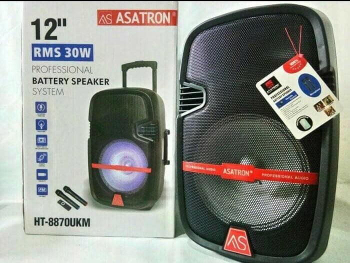 harga Speaker portable amplifier wireless meeting asatron ht-8870 ukm 12inch Tokopedia.com