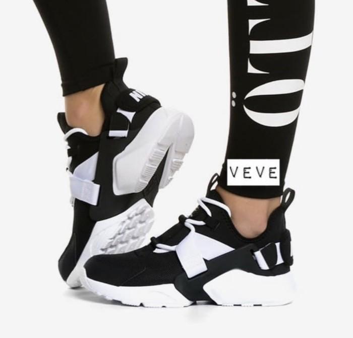 Jual Nike Air Huarache City Low Black White Premium Original - Jakarta Barat - veve shoes   Tokopedia