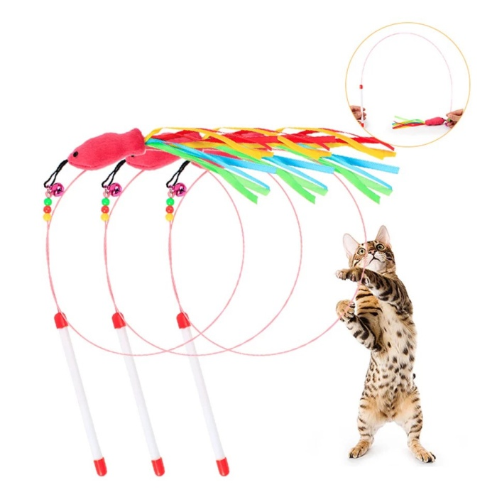harga Mainan berburu lonceng kucing cat toys kitten pet teaser w27 Tokopedia.com