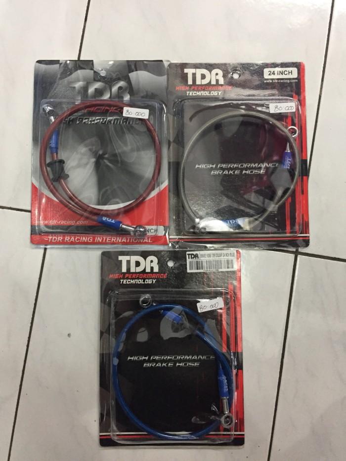 ... harga Selang rem cakram tdr belakang 24 inch red/blue/silver Tokopedia.com