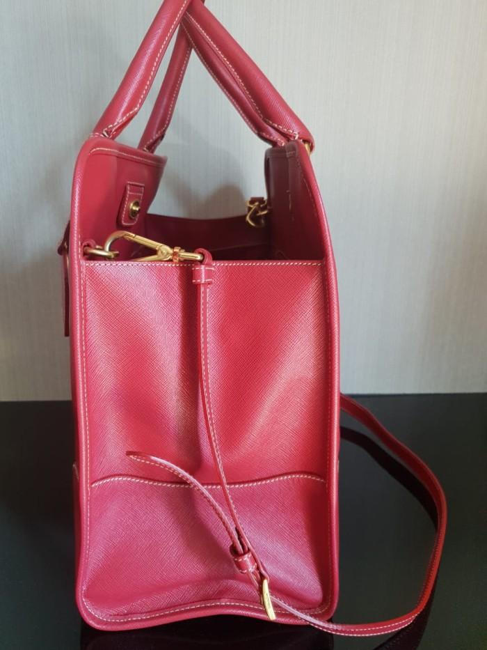 ... authentic authentic prada bag saffiano lux red tas prada asli original  780e2 6c790 a6c4c2abbe