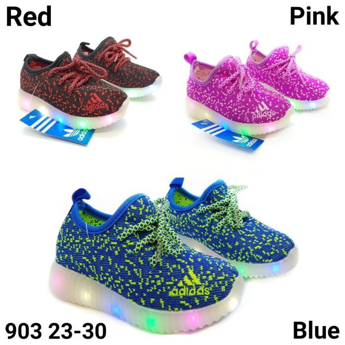 harga Sepatu anak bisa nyala led / knit shoes adidas yeezy Tokopedia.com