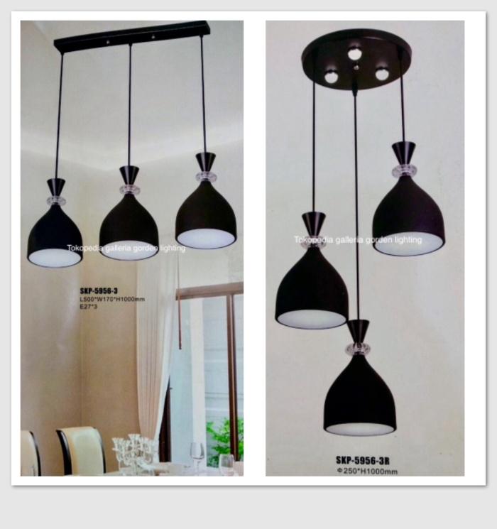 harga Lampu hias gantung dekorasi meja makan minimalis 5956-3 Tokopedia.com