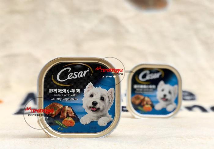 Foto Produk cesar tender lamb with country vegetables wetfood makanan anjing dari orange petfood delivery