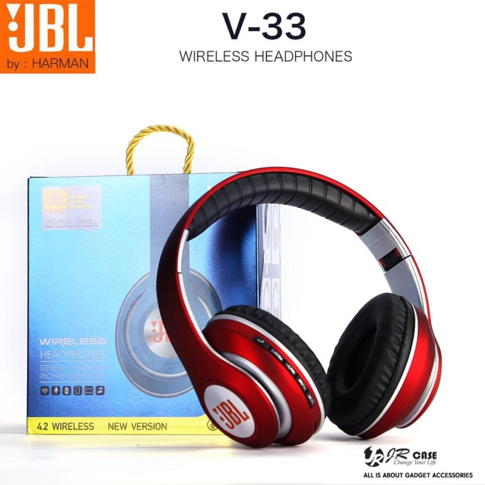 harga Handsfree bluetooth jbl v-33/ headset/ headphones/ earphones Tokopedia.com