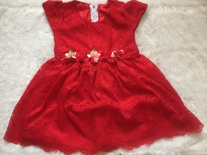 Dress / gaun pesta bayi / anak - motif full brukat