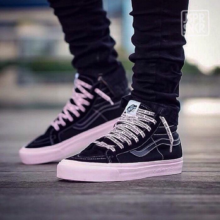 przystojny oficjalny sklep trampki Jual ASSC x DSM x Vans Sk8 Hi - Black Pink - Kota Bandung - Jasper Sneakerz    Tokopedia