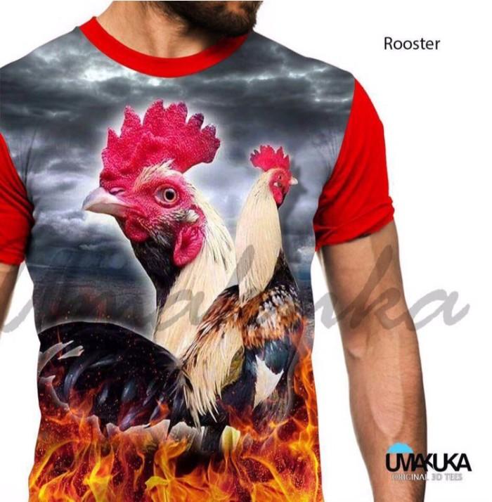 harga Rooster kaos ayam jago aduan 3d fullprint Tokopedia.com