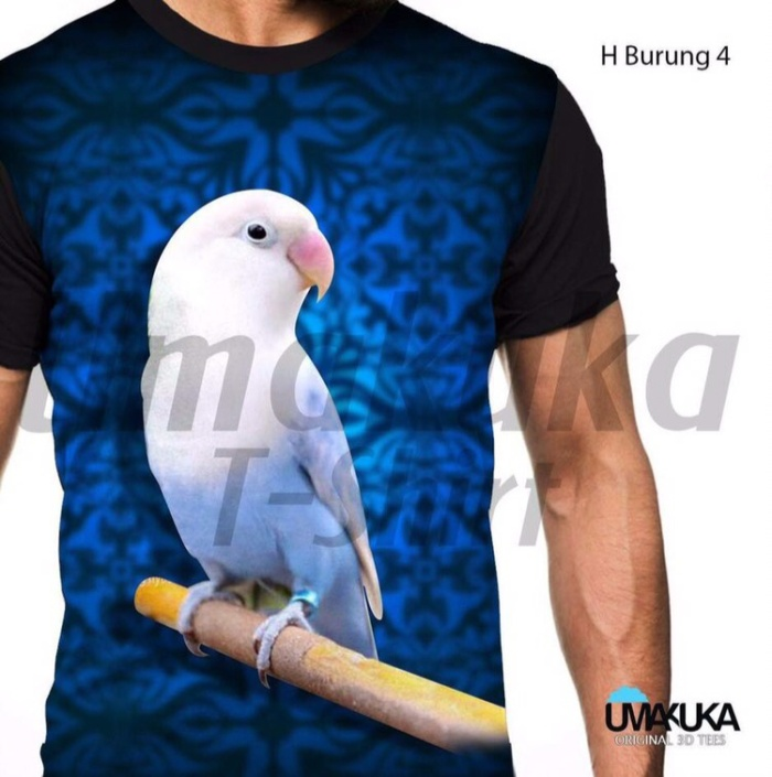 harga H burung 4 kaos kicau mania lovebird 3d fullprint Tokopedia.com