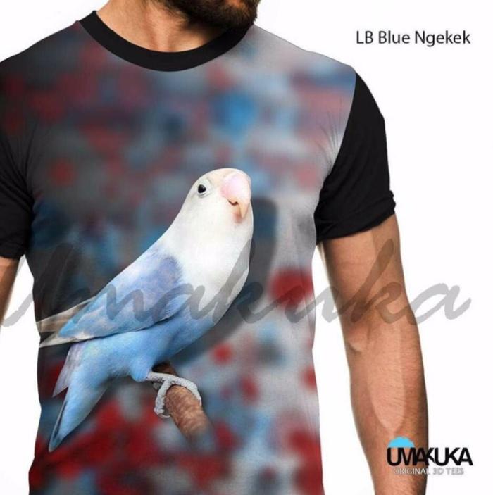 harga Lb blue ngekek kaos burung lovebird kicau mania 3d fullprint Tokopedia.com