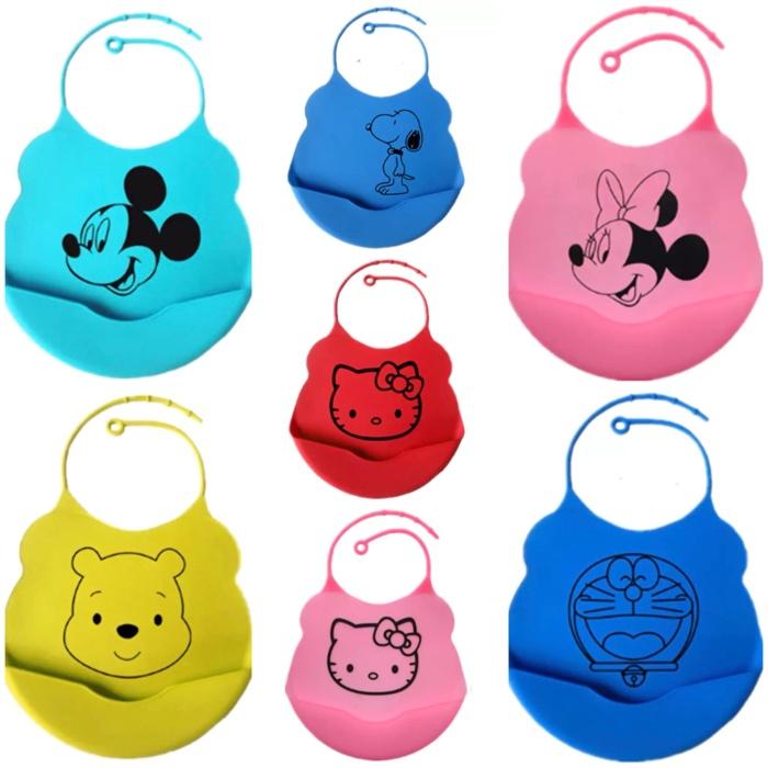 harga Baby bibs / celemek bayi / slabber silicon waterproof anti air disney Tokopedia.com