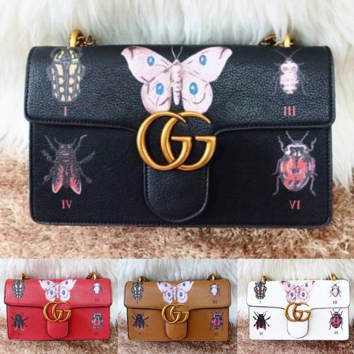 4e1acc2b3b3e Jual Tas Selempang Gucci GG Marmont Matelasse Shoulder Bag Insect ...