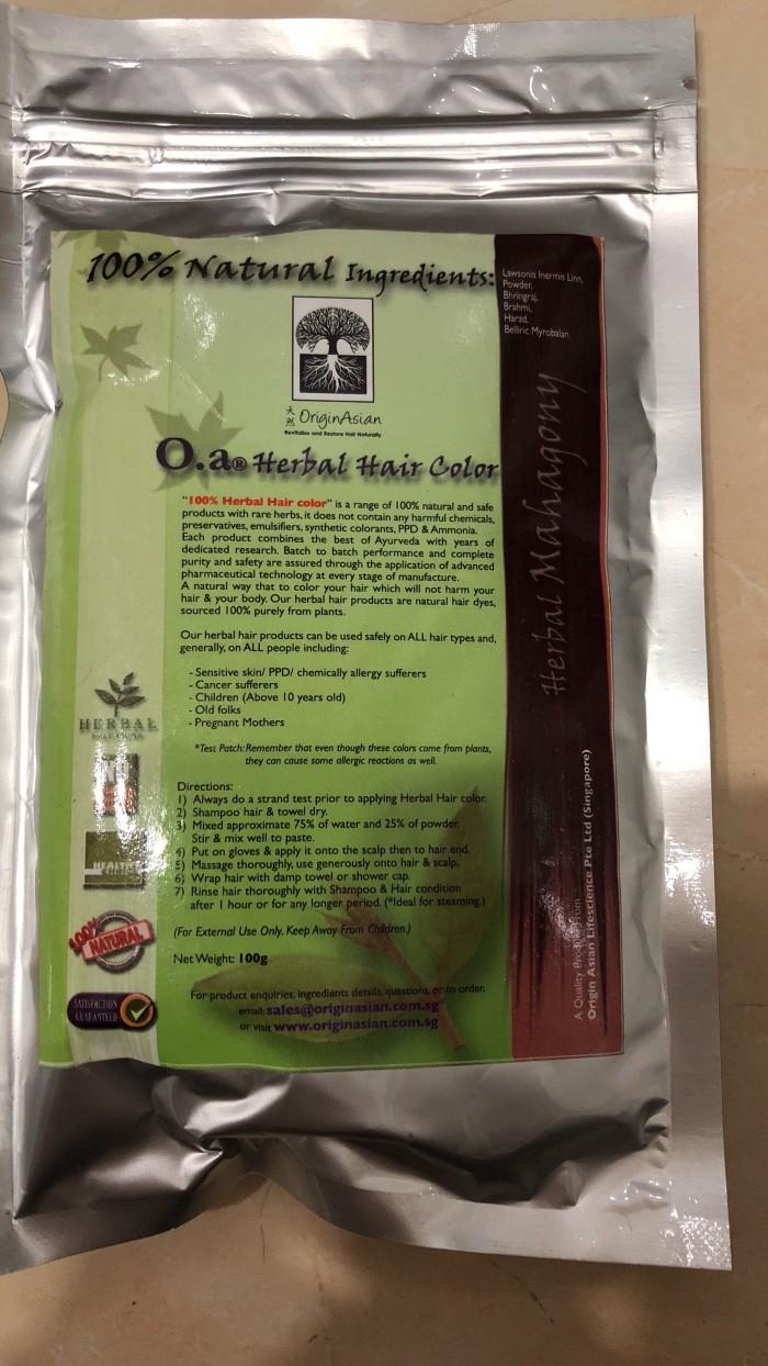 Jual Henna Pewarna Rambut Herbal Merk Originasian Rejeki
