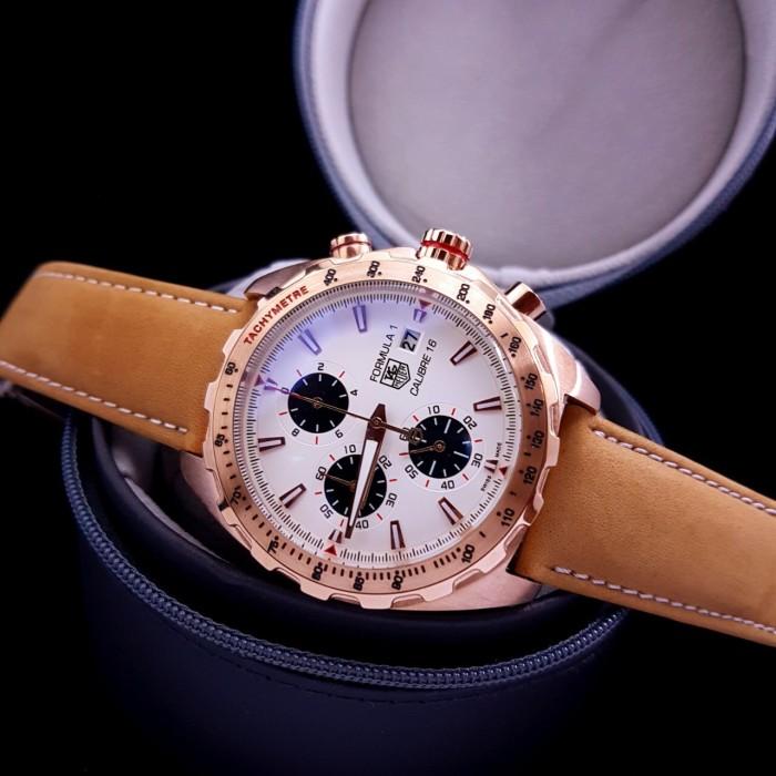 harga Jam tangan pria merk tag heuer calibre 16 formula 1 rosegold type 0183 Tokopedia.com