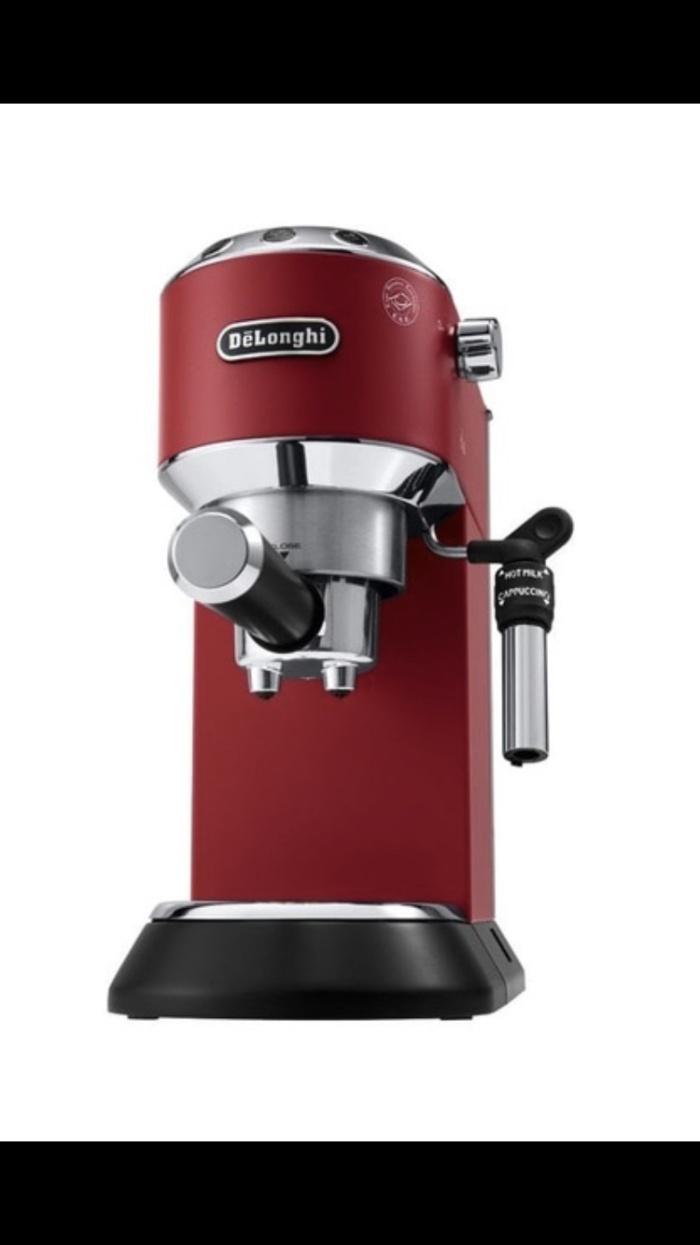 MESIN KOPI COFFEE MAKER DELONGHI EC685.R EC 685.R DEDICA WARNA MERAH