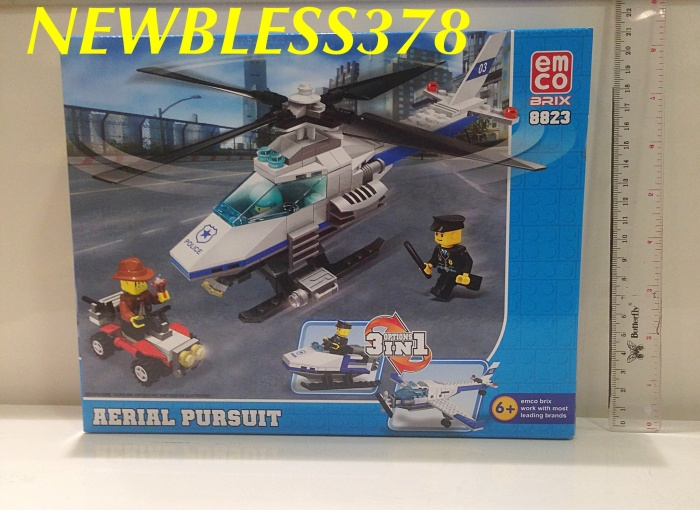 lego 3in1 - emco brix 3in1 - mainan edukasi anak - pesawat -helicopter