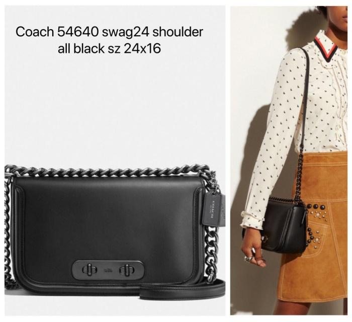 Jual Coach Swagger Shoulder 24 Black Tas Coach Original ... 82682b844d