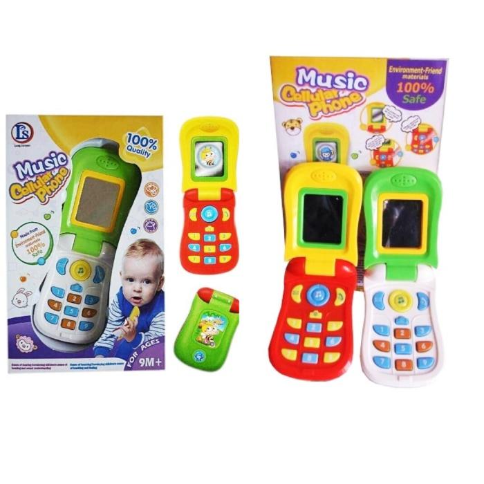 Jual Music Celluler Phone Mainan Bayi Telepon Musik Anak Handphone