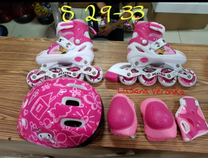 harga Sepatu roda anak fullset (body protector+helm) / inline skate Tokopedia.com