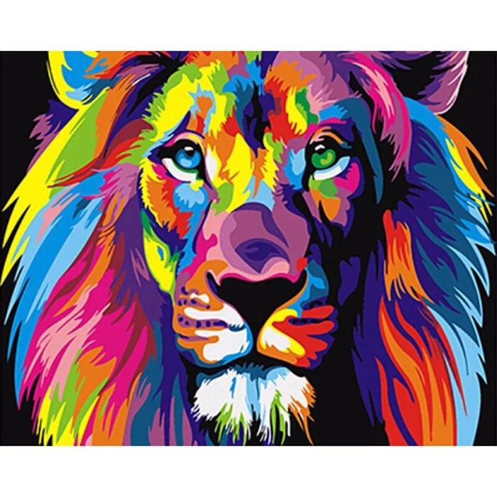 Jual Lukisan Diy Mewarnai Dengan Angka Murah Singa Lion Shadowfly