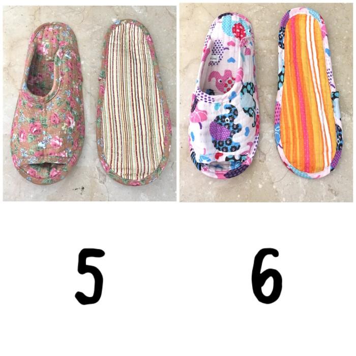 harga Sendal rumah kain bunga sandal anti slip quilt renda by gaia Tokopedia.com