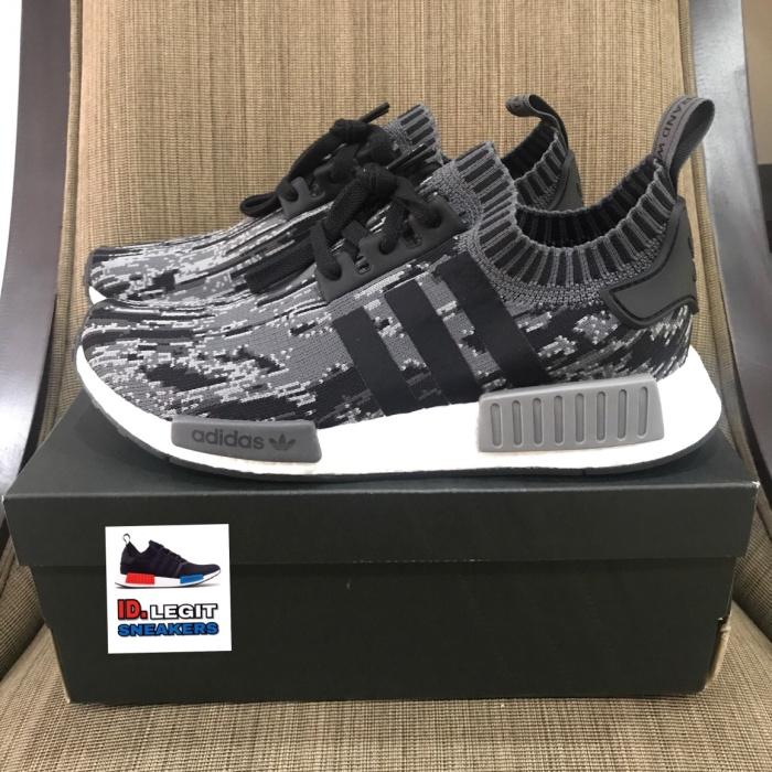 27c857a82 Jual Sepatu adidas nmd r1 primeknit core black grey oreo original ...