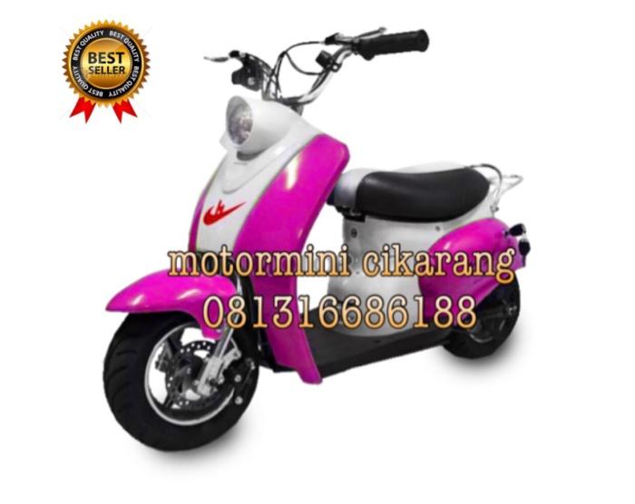 harga Motor mini scoopy 50cc ring 65 mesin 2tak pullstart Tokopedia.com