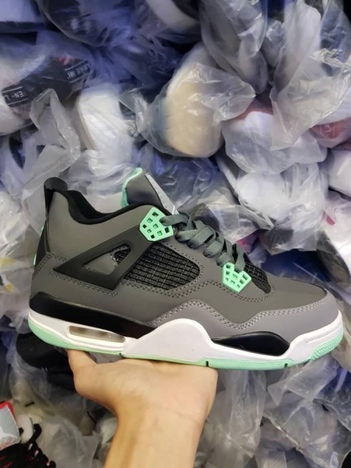 Nike Air Jordan Retro 4 Green Glow Premium   sepatu sneakers pria sale f67b5969f5