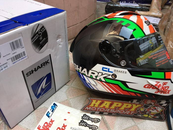 Helm Fullface Shark RaceRPro carbon Zarco 2018 ori France euro M L XL 3
