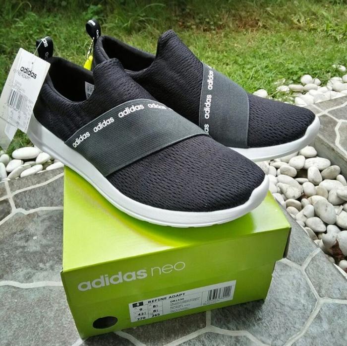 e9926bd0eb55e7 Jual Adidas NEO Cloudfoam Refine Adapt Black   White Original - Kab ...