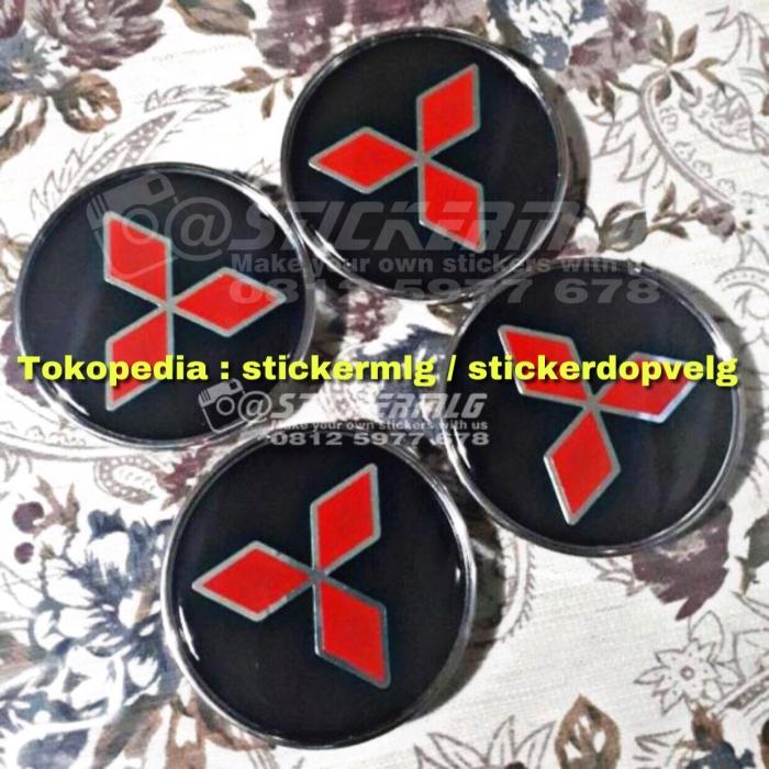 harga Sticker timbul tutup dop velg mitsubishi red chrome 4 pcs Tokopedia.com