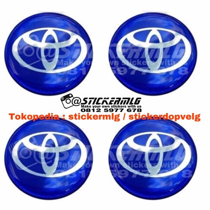 harga Sticker timbul tutup dop velg toyota chrome blue 4 pcs Tokopedia.com