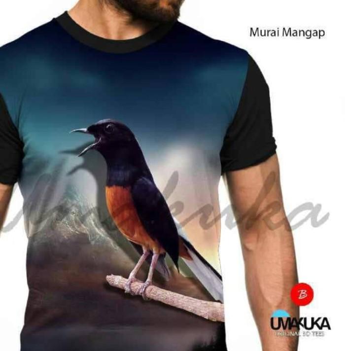 harga Murai mangap kaos burung kicau mania 3d fullprint Tokopedia.com