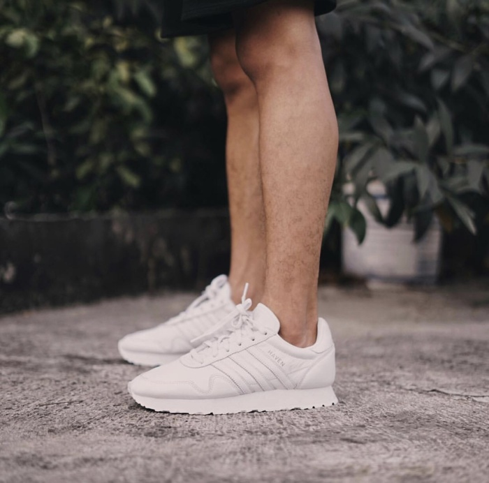 "f9deceddece45d Jual Adidas Originals Haven Leather ""All White"" - hoyweapstore ..."