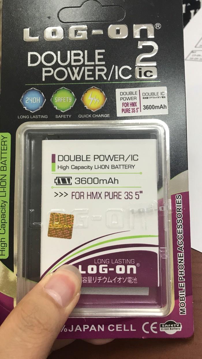 Jual Baterai Logon Himax Pure 3s 5 Double Power Hmcase Tokopedia