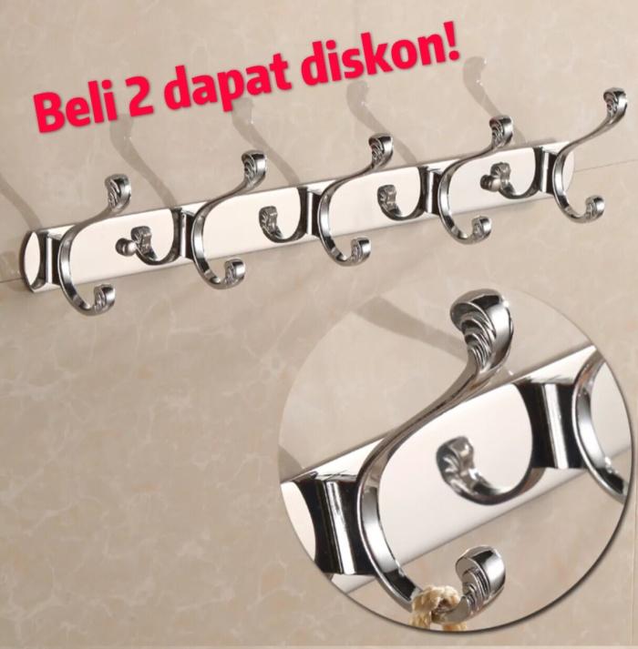 harga Kapstok tebal gantungan baju hanger baju  stainless steel 5 kait Tokopedia.com