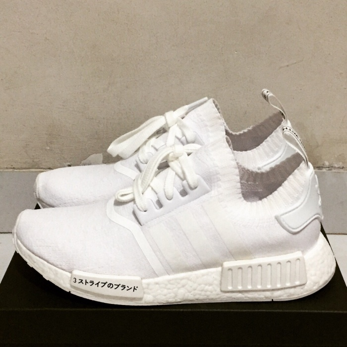 b4cc63869 Jual Adidas NMD R1 PK Japan Triple White - SYAsiblings