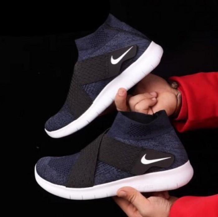 harga Nike free run motion flyknit navy premium original / sepatu nike Tokopedia.com