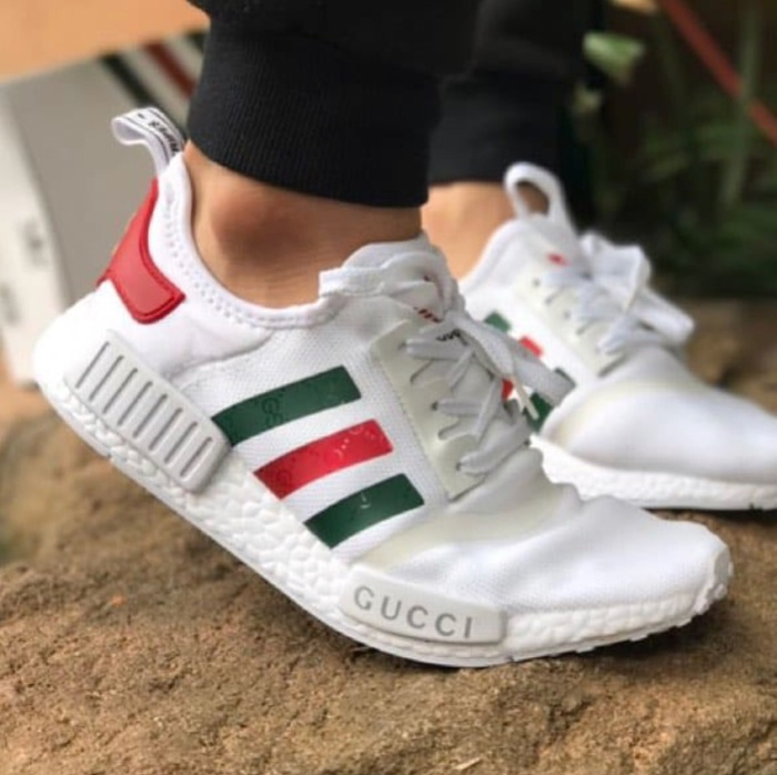1ba1427d93c1a Jual Sepatu Adidas Nmd R1 x Gucci White Premium sneakers pria murah ...