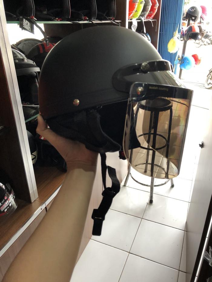 Jual HELM BOGO CHIP + kaca datar flat - Kota Bandung