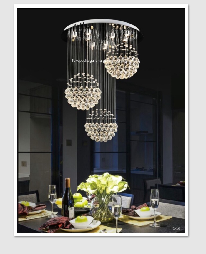 Jual Lampu Gantung Kristal Led Dekorasi Meja Makan Minimalis 817 60 Jakarta Pusat Galleria Gorden Lighting Tokopedia