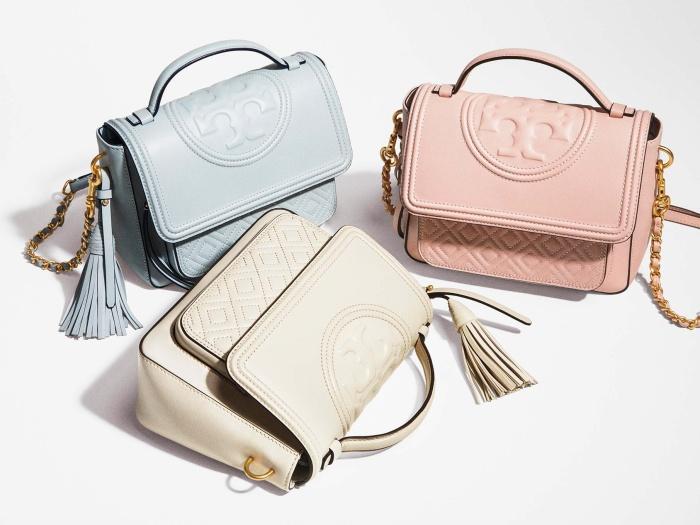 a90c7ff88a92 Jual Tory Burch fleming satchel - color  seltzer (include dustbag ...