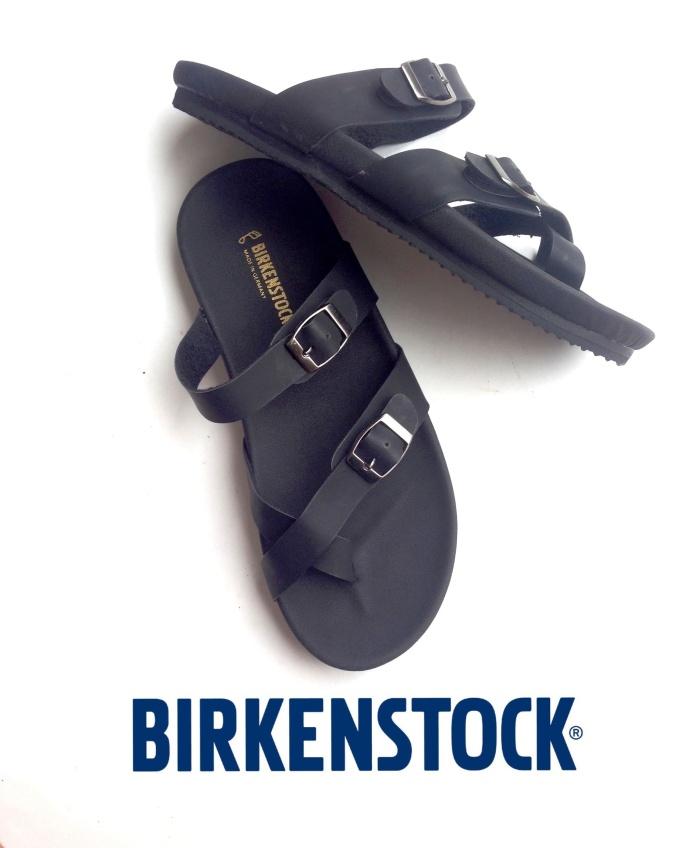 d9c2a5ba3bd Jual Sandal Birkenstock Pria Gesper Silang Mayari Eva Full Hitam ...