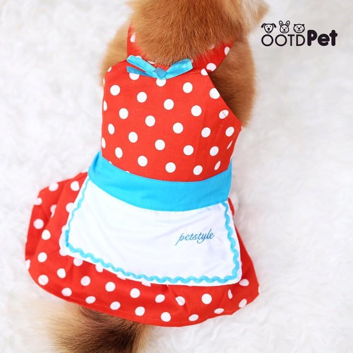 harga Apron red size xs/s/m/l || baju anjing kucing kelinci Tokopedia.com