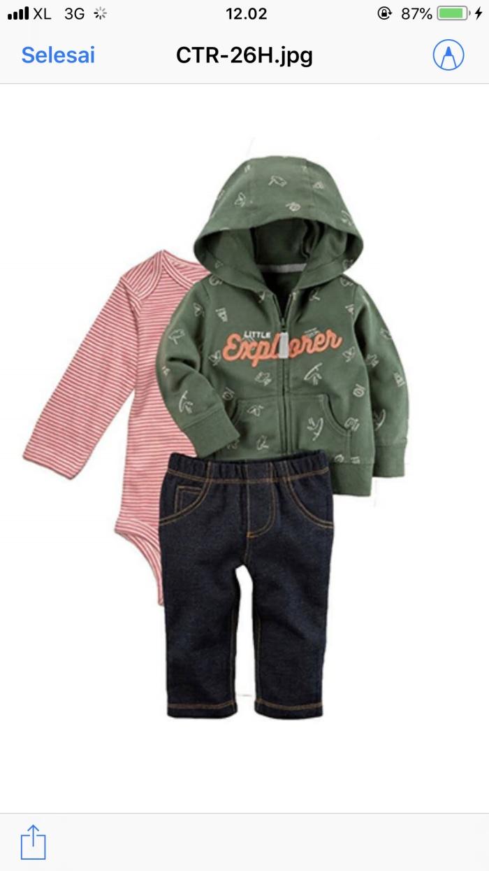 harga Jaket carters 3in1 bayi perempuan / carter set baby cewe murah lucu Tokopedia.com