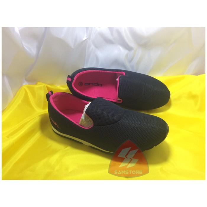 harga Sepatu sekolah anak perempuan slim calya ando hitam fusia Tokopedia.com